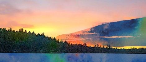 Frozen Sunset in Sketch Guru Watercolour