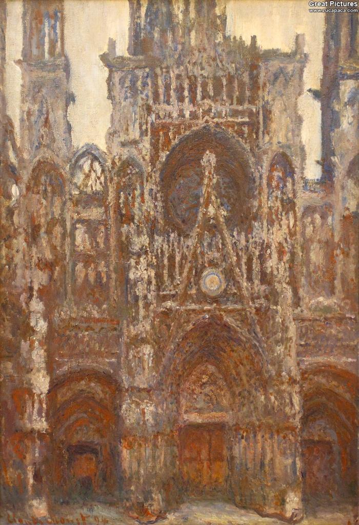 Rouen Cathedral, the West Portal (Dull Weather), 1892. Oil on canvas, 107 × 74 cm. Musée d'Orsay, Paris