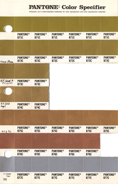 Pantone Color Specifier Book: Metallic Swatches